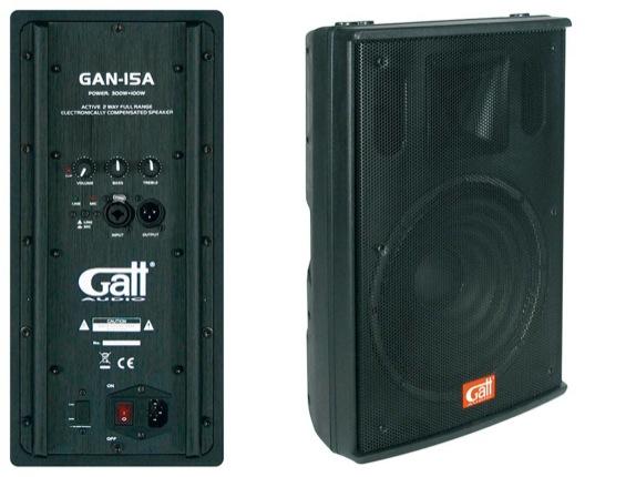 Gatt GAN-15A 15inch Actieve Speaker