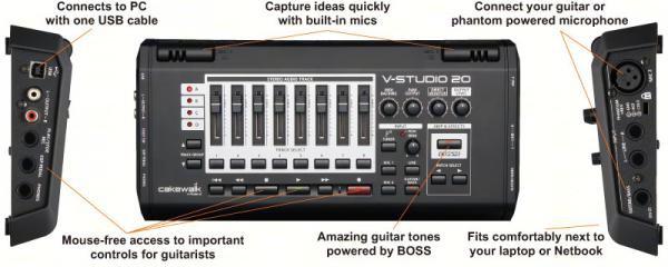 Roland Cakewalk VS-20 V-Studio 20, Audio Interface/Control Su
