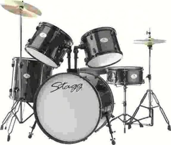 Stagg TIM122BK drumset compleet zwart